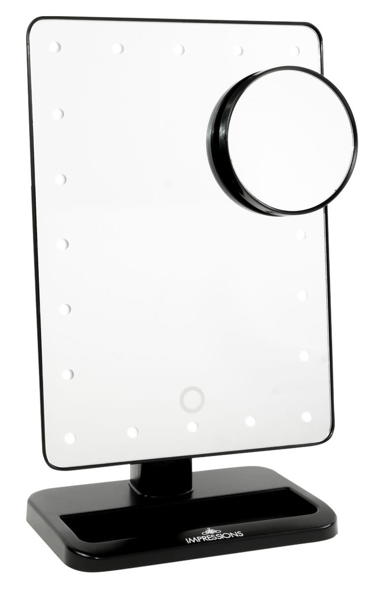IMPRESSIONS VANITY CO. Touch XL Dimmable LED Makeup Mirror with Removable 5x Mirror, Main, color, 001