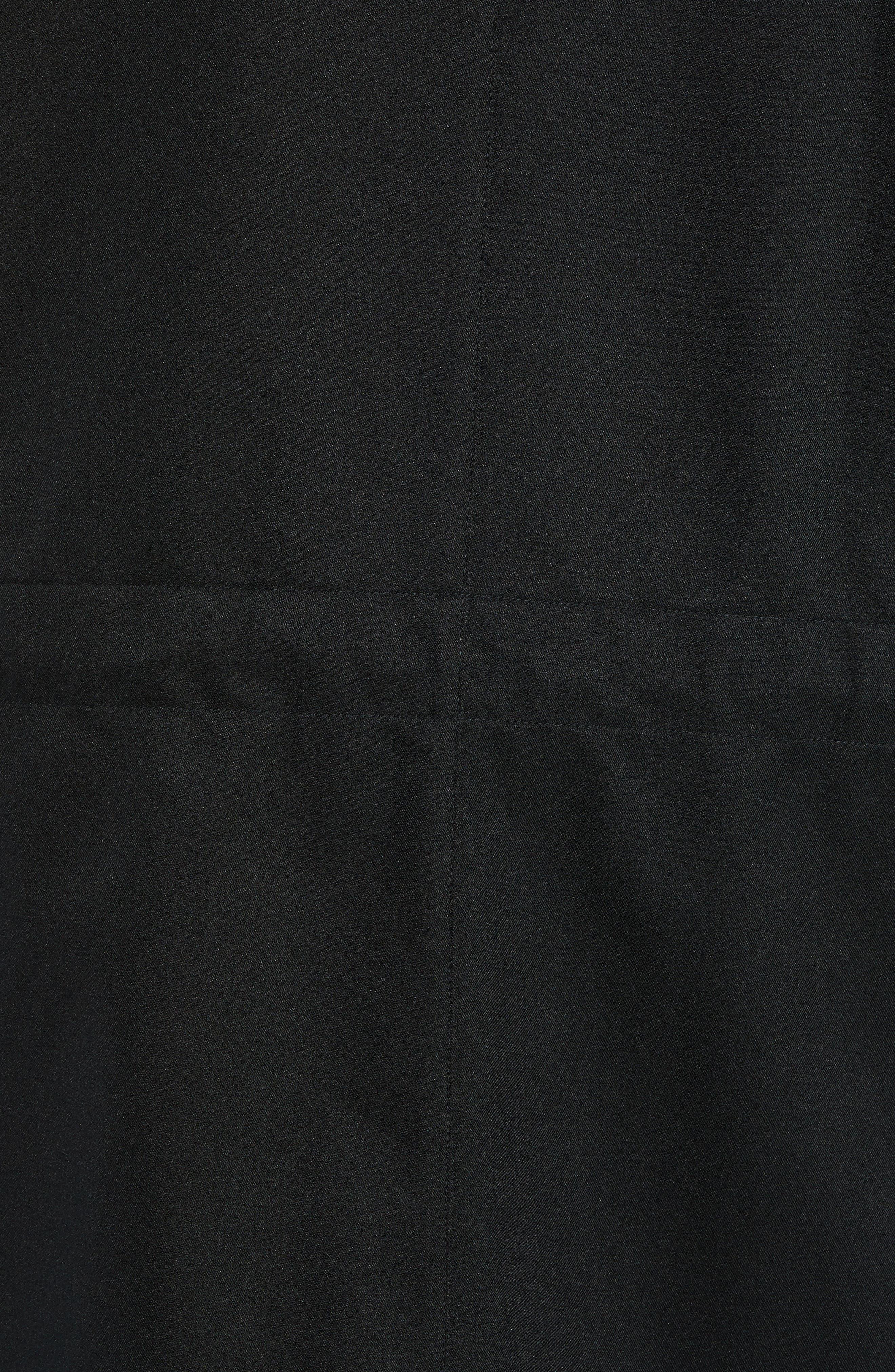 ,                             Packable Water-Resistant Raincoat,                             Alternate thumbnail 6, color,                             BLACK