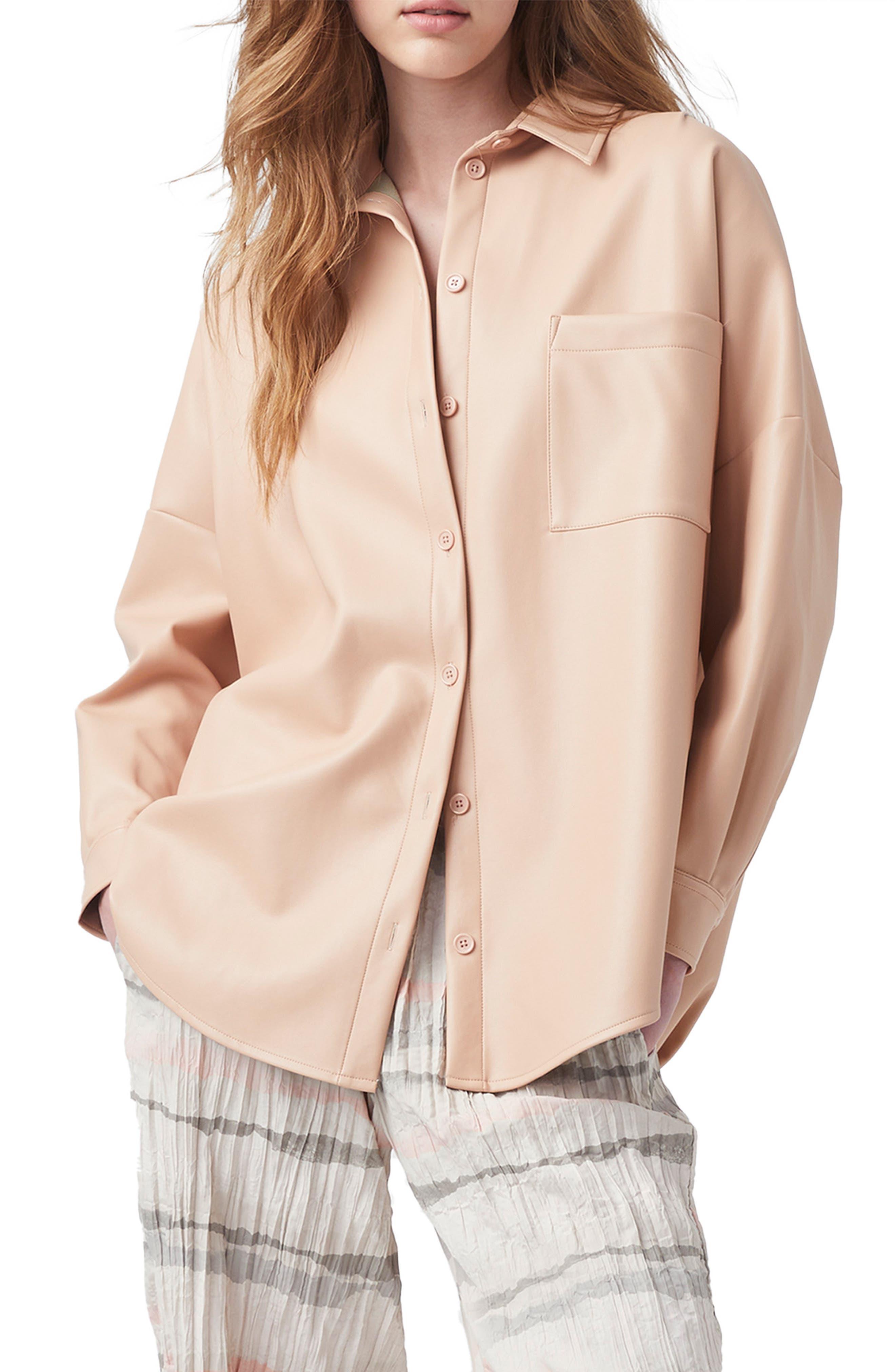 Crolenda Faux Leather Shirt