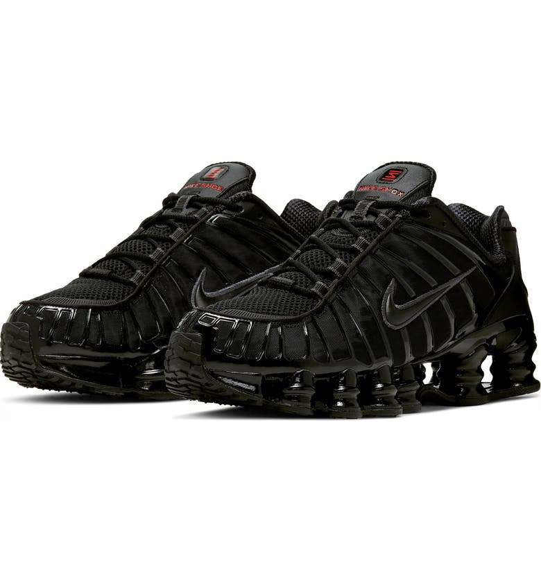 NIKE Shox TL Sneaker, Main, color, BLACK/ HEMATITE/ MAX ORANGE