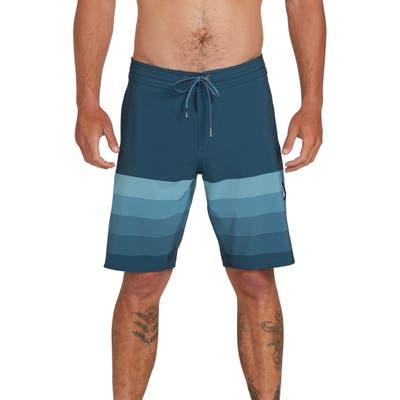 Volcom Quarta Static Stony Board Shorts, Blue