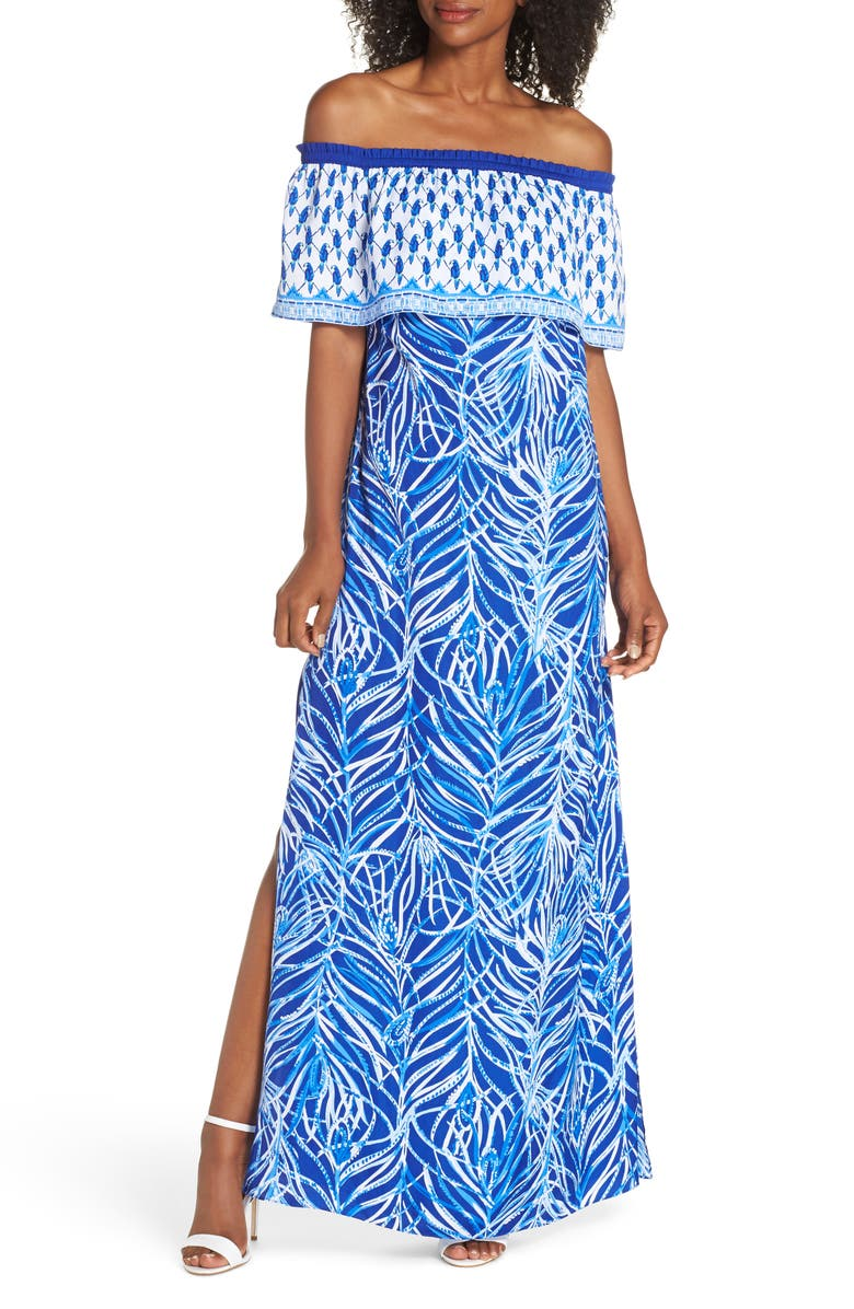 a28bf46382 Lilly Pulitzer® Alicia Off the Shoulder Maxi Dress | Nordstrom