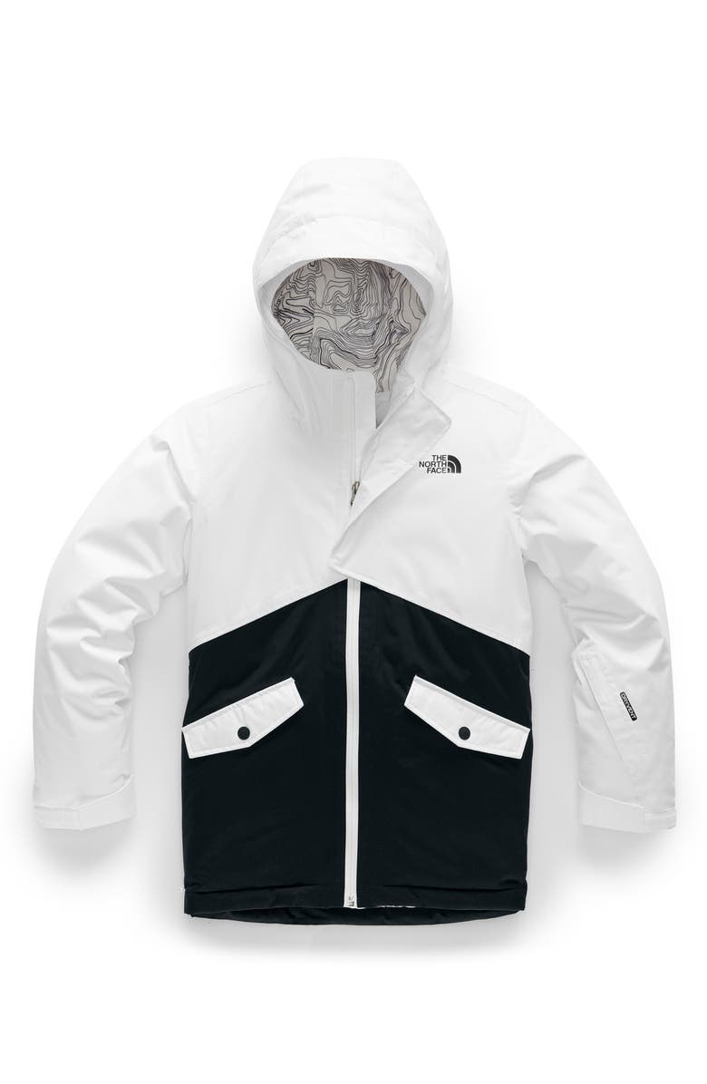 THE NORTH FACE Freedom Waterproof Insulated Snowsports Jacket, Main, color, TNF WHITE/ TNF BLACK