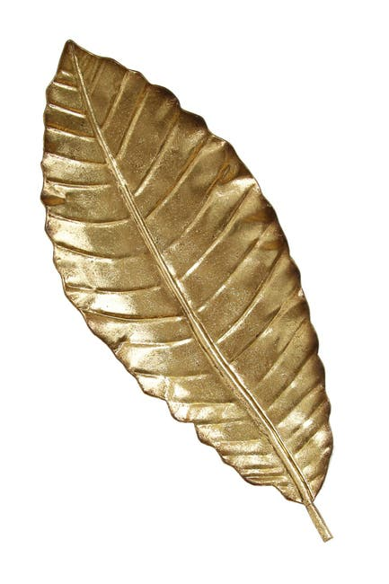 Image of Stratton Home Gold Elegant Leaf Wall Decor