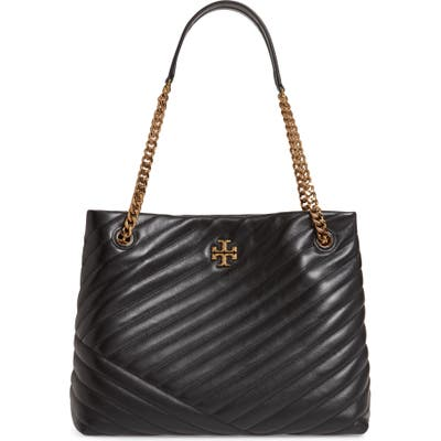Tory Burch Kira Chevron Quilted Leather Tote - Black