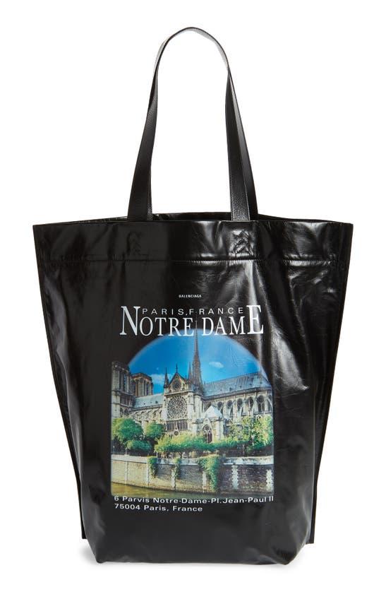 Balenciaga Shoulder bags PARIS PRINT LEATHER TOTE