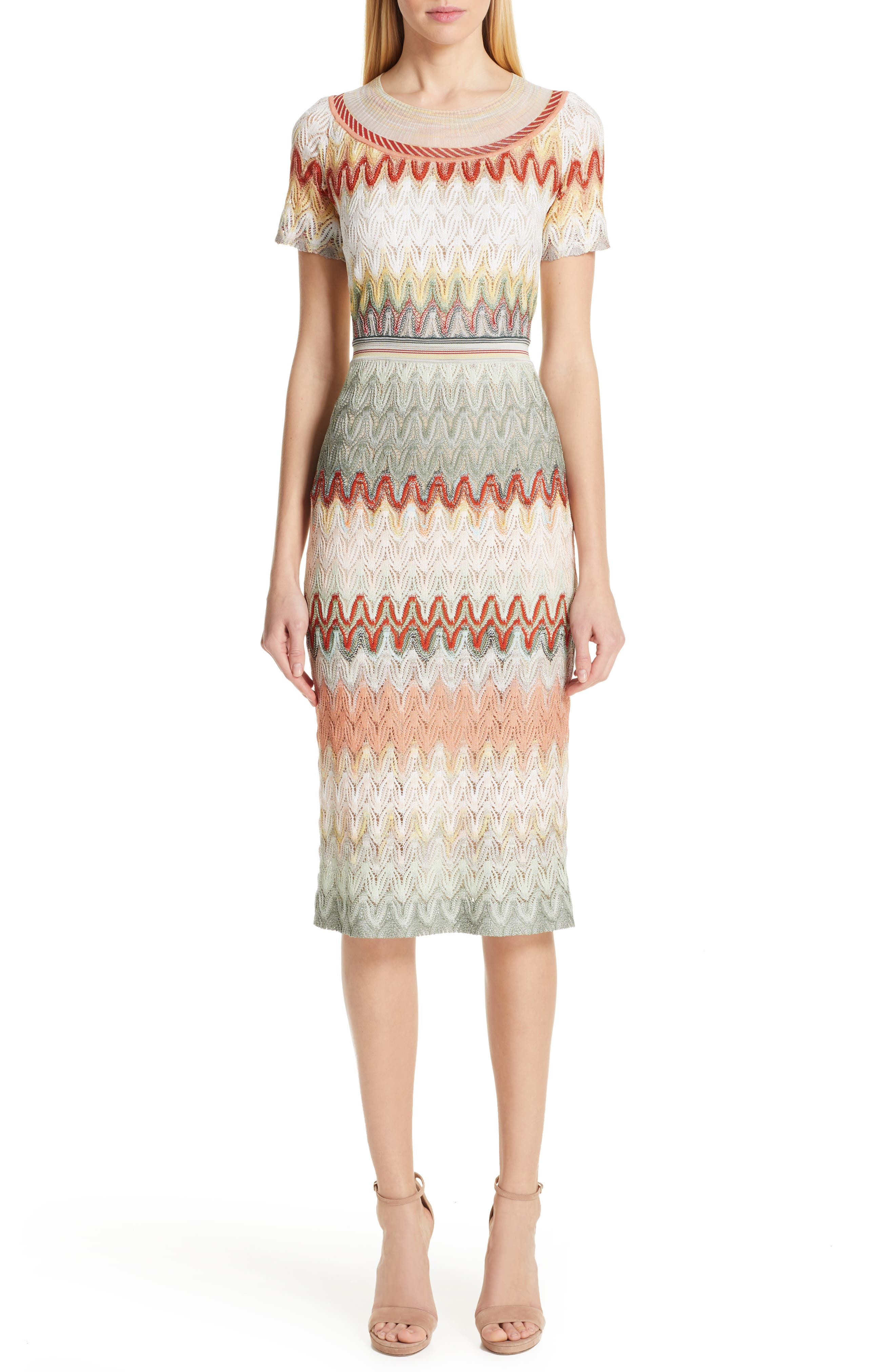 Missoni Pointelle Sweater Dress, 8 IT - Ivory