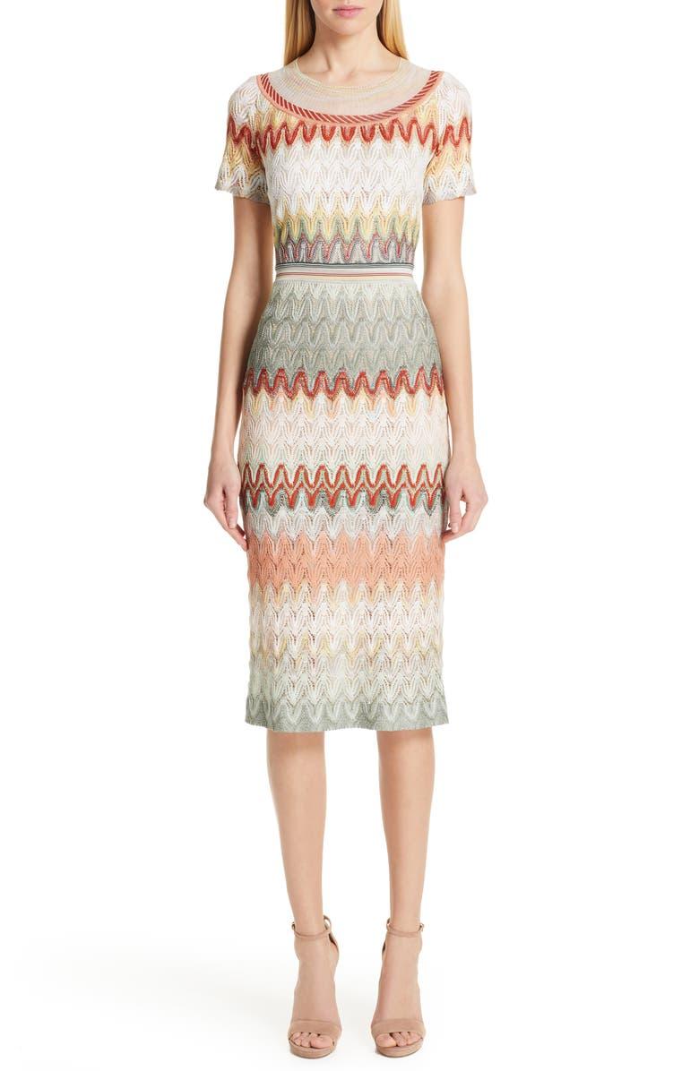 MISSONI Pointelle Sweater Dress, Main, color, CREAM