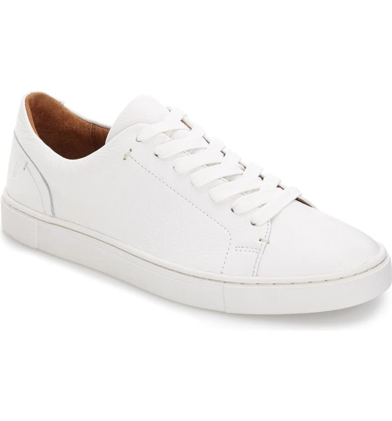 FRYE Ivy Sneaker, Main, color, WHITE LEATHER