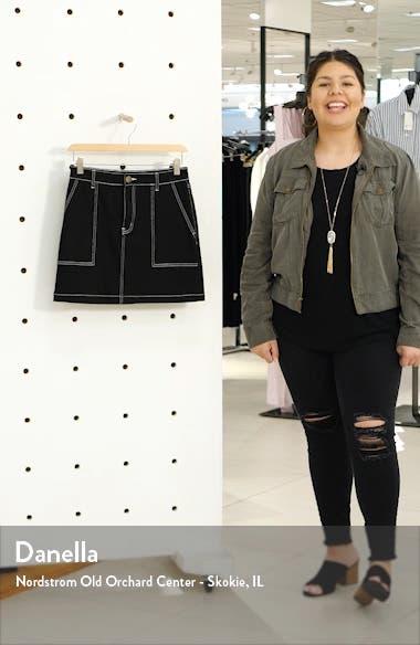 Contrast Stitch Denim Utility Miniskirt, sales video thumbnail