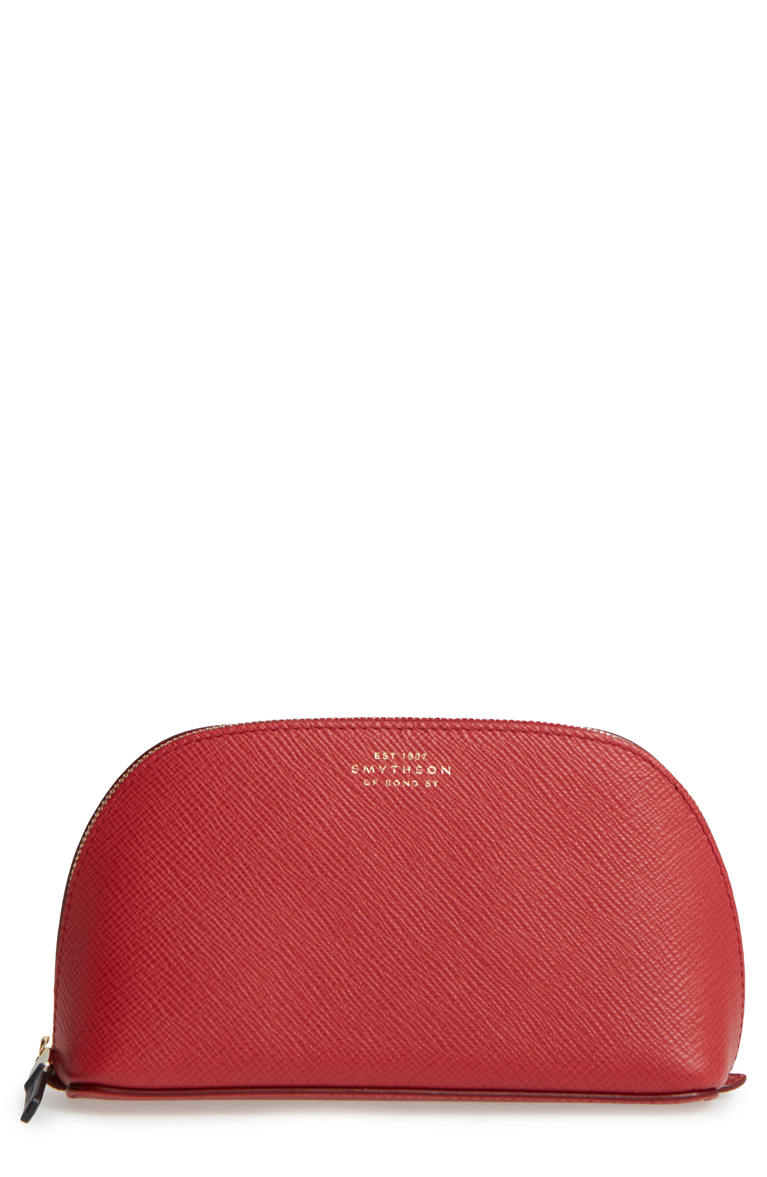 Small Calfskin Leather Cosmetics Case, Main, color, 600