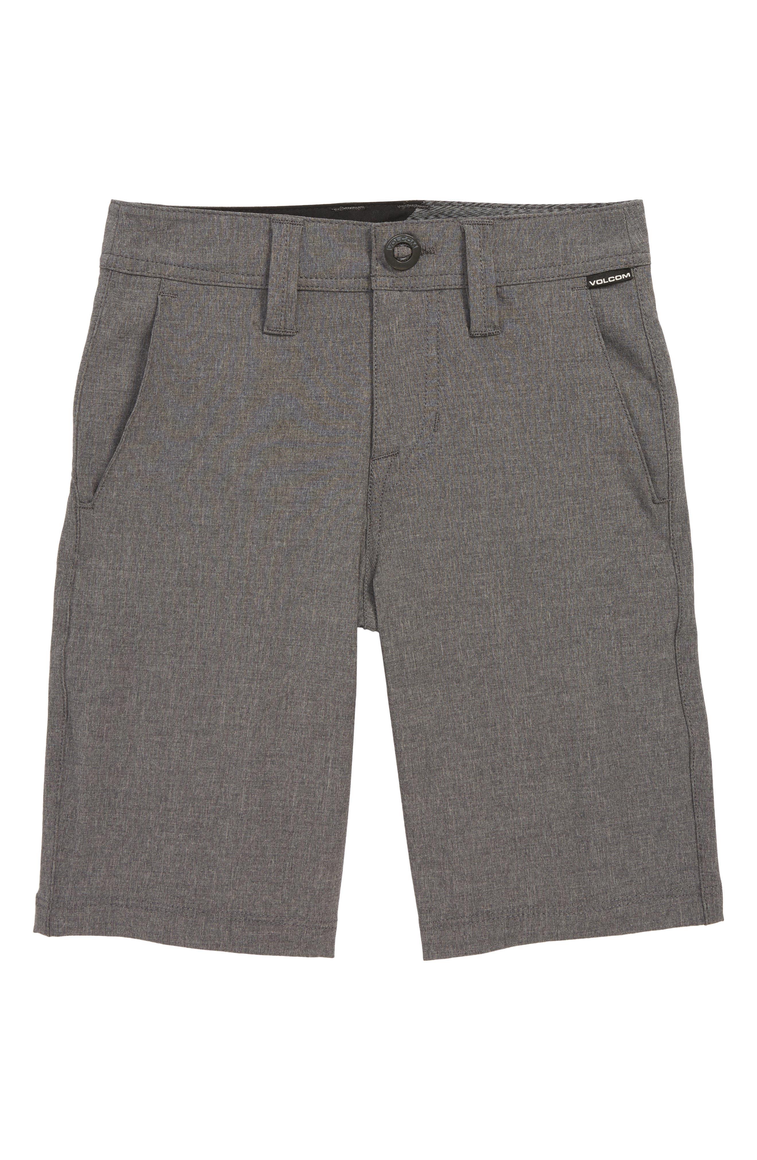 Boys Volcom Frickin Surf N Turf Static Hybrid Board Shorts Size 25  Grey