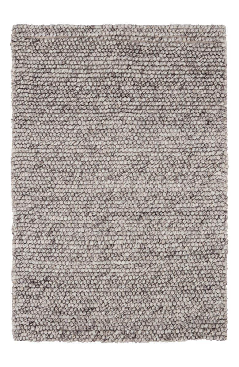 DASH & ALBERT Niels Handwoven Wool Blend Rug, Main, color, GREY