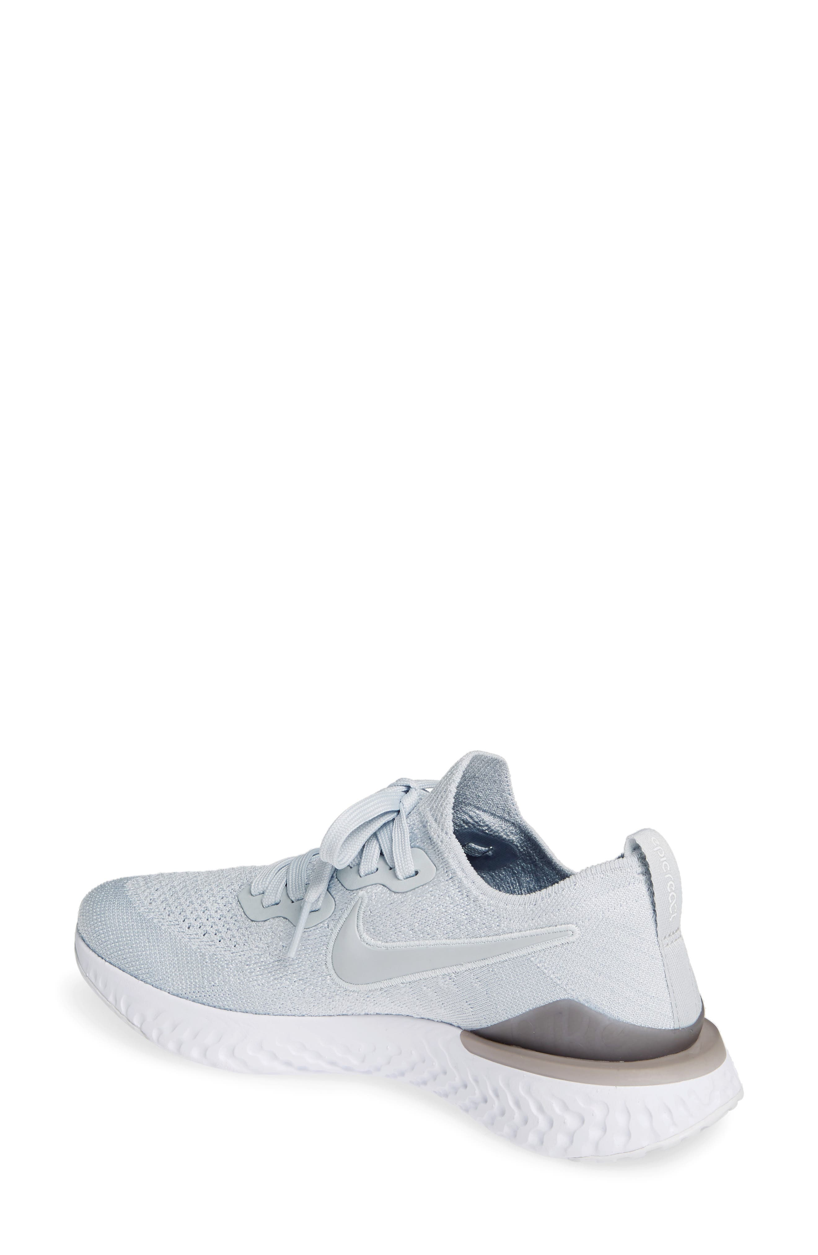 ,                             Epic React Flyknit 2 Running Shoe,                             Alternate thumbnail 2, color,                             PURE PLATINUM/ WOLF GREY