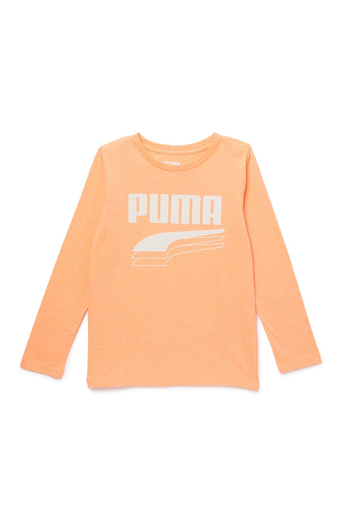 Image of PUMA Rebel Block Long Sleeve T-Shirt