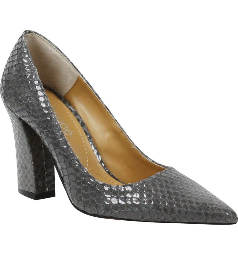 J. RENEÉ Quorra Pointed Toe Pump, Main, color, GREY PRINT FAUX LEATHER