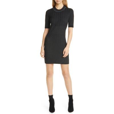 Club Monaco Slim Sweater Dress, Black