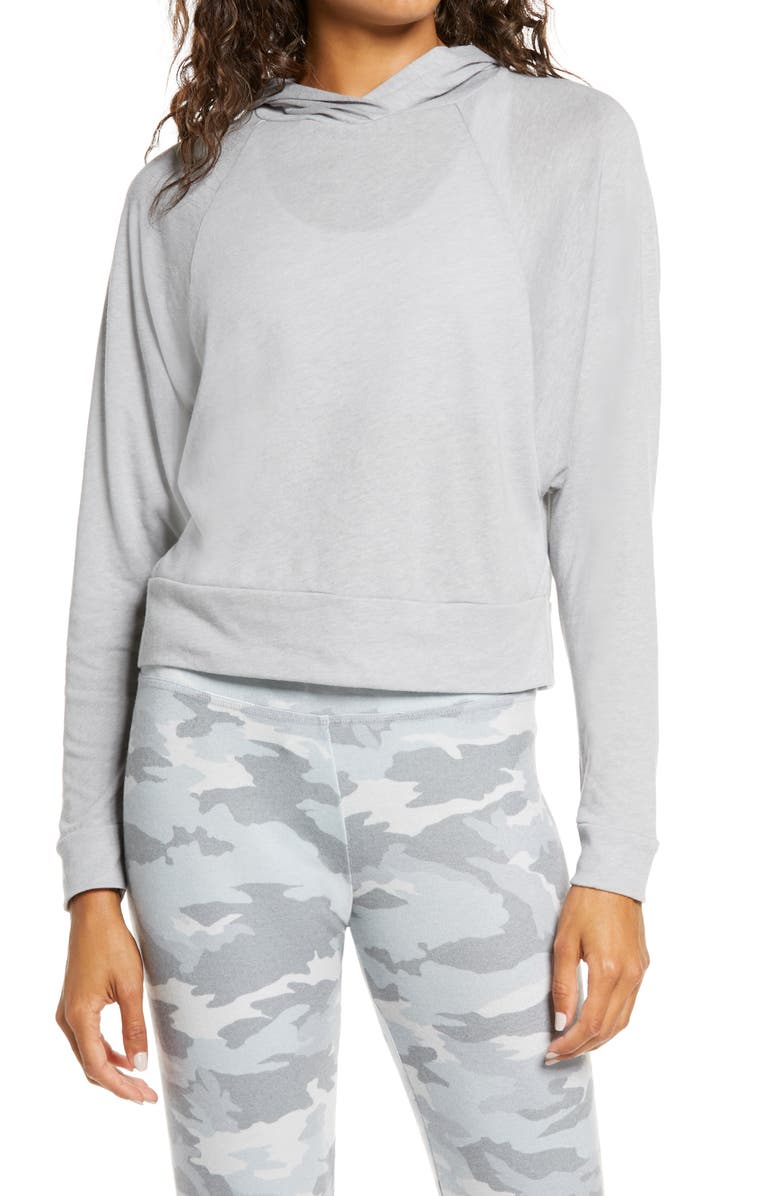 BEYOND YOGA Never Been Hoodie, Main, color, HEATHER GRAY