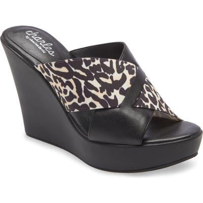 Charles By Charles David Prevent Wedge Slide Sandal, Black