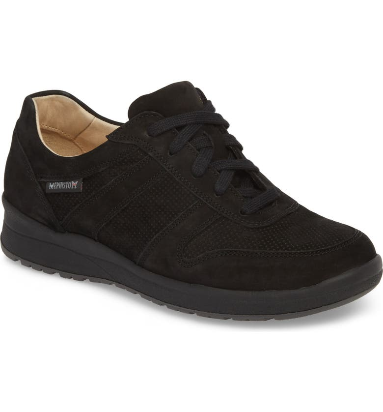 MEPHISTO Rebecca Perforated Sneaker, Main, color, BLACK
