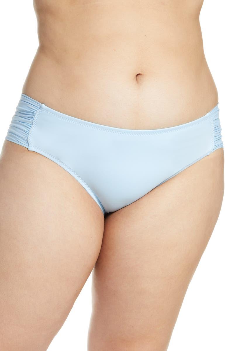 BECCA ETC. Color Code Tab Side Bikini Bottoms, Main, color, STERLING