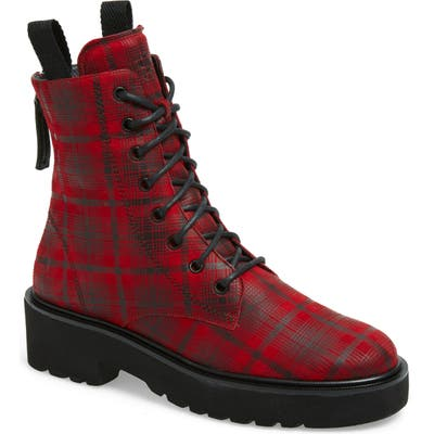 Paul Green Bronx Lace-Up Platform Boot, .5UK - Red
