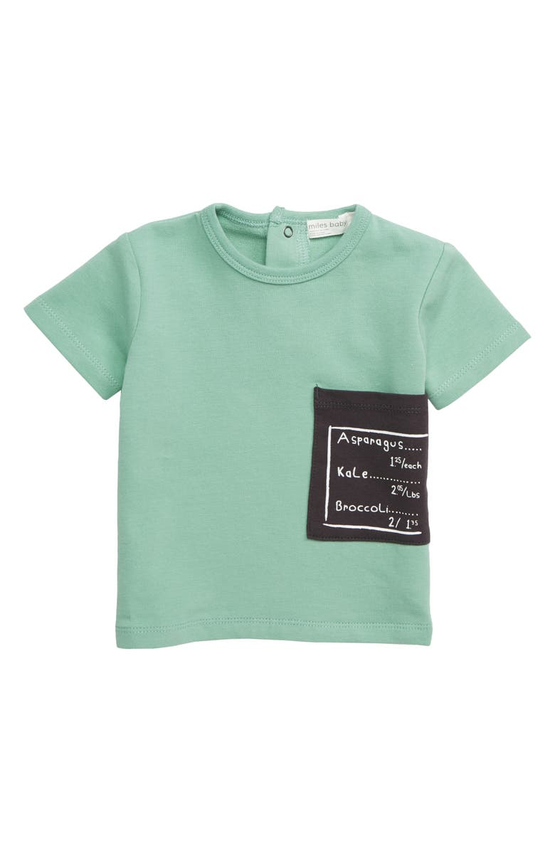 MILES BABY Oversize Pocket T-Shirt, Main, color, 300