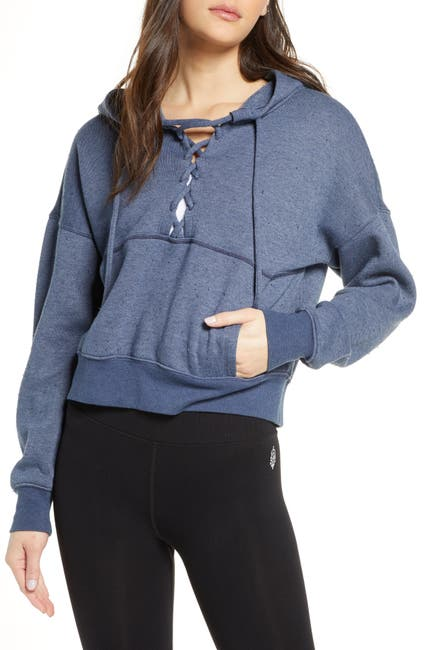 Image of Free People FP Movement Believe It Lace-Up Hoodie