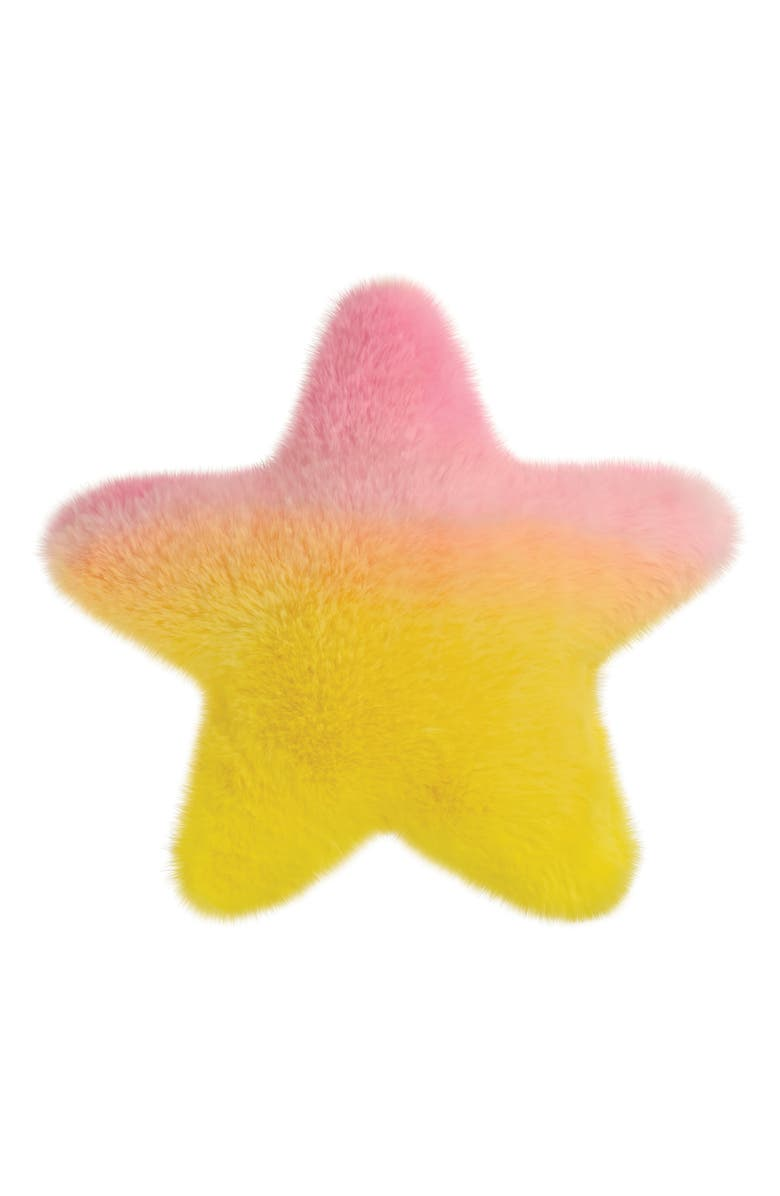 ISCREAM Bubblegum Scented Faux Fur Star Pillow, Main, color, MULTI