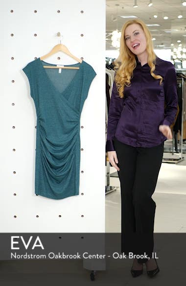 Surplice Ruched Body-Con Dress, sales video thumbnail