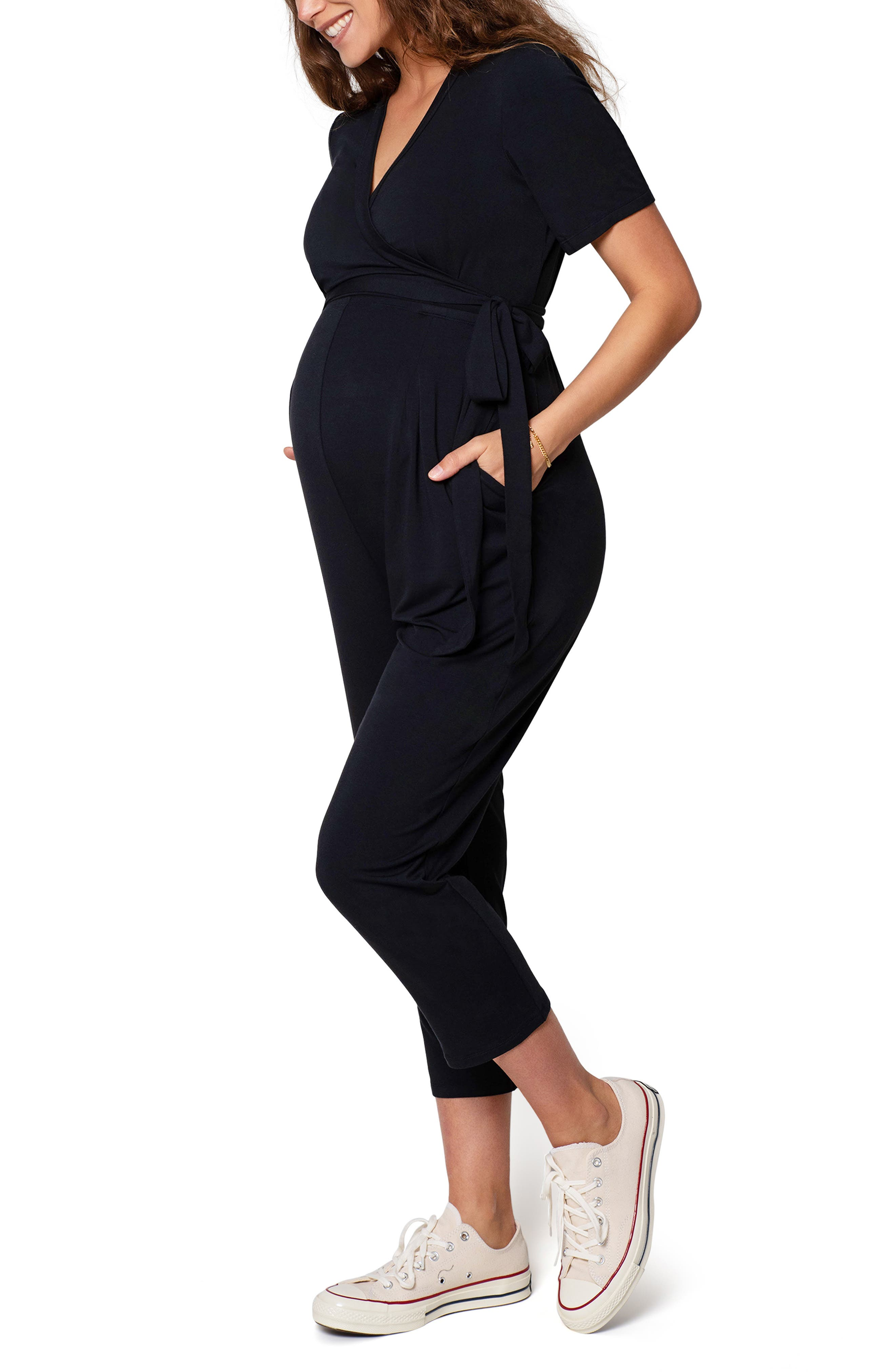 Women's Ingrid & Isabel Crop Jersey Maternity/nursing Jumpsuit