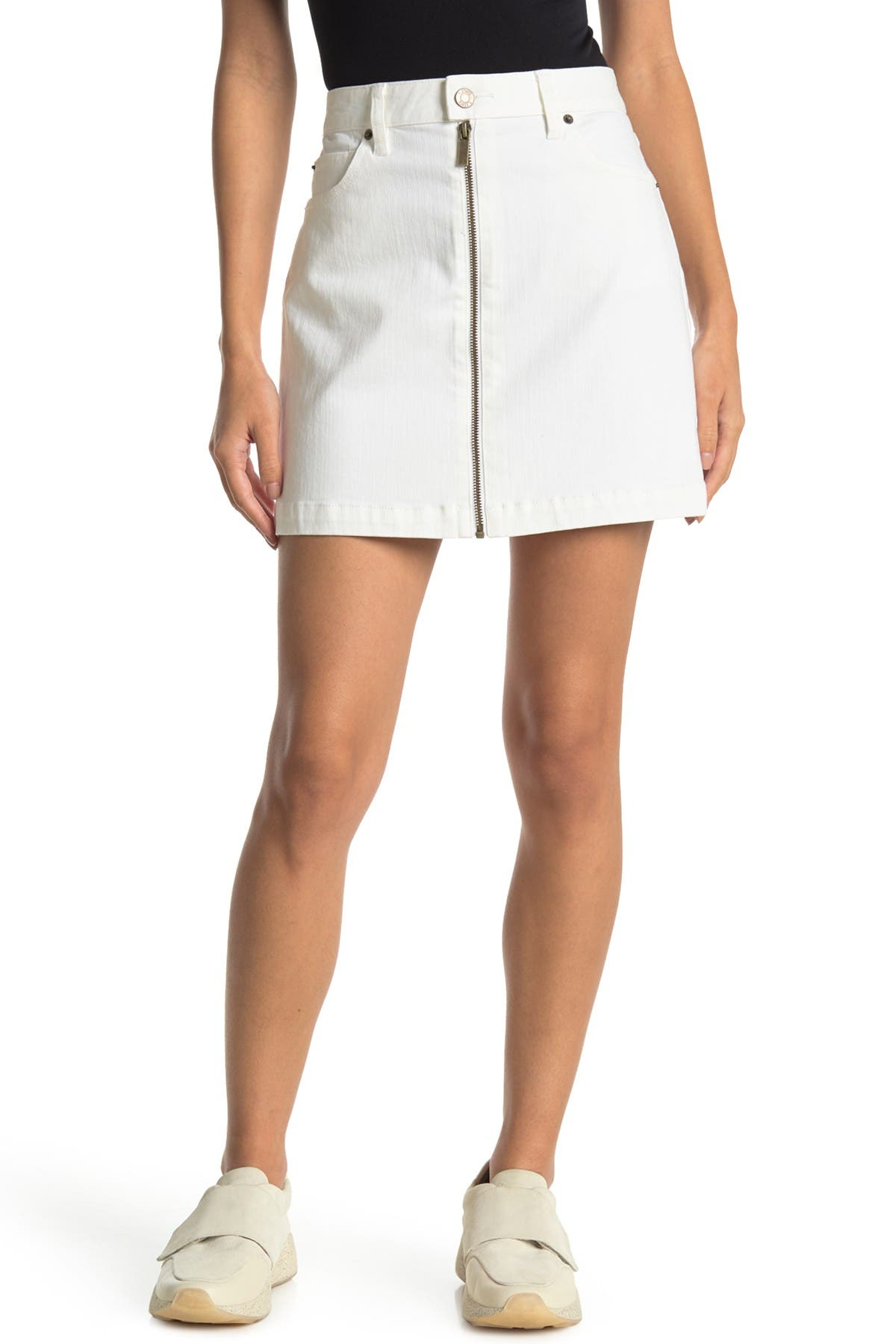 Image of 1.State A-Line Front Zip Mini Skirt