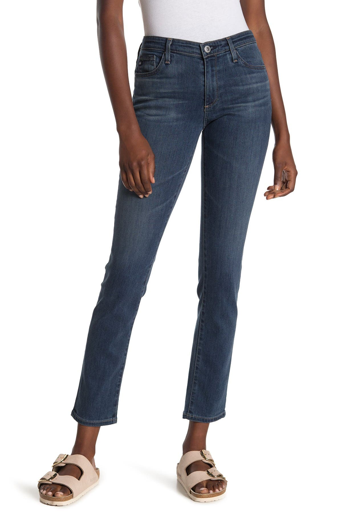 Image of AG Mid-Rise Cigarette Jeans