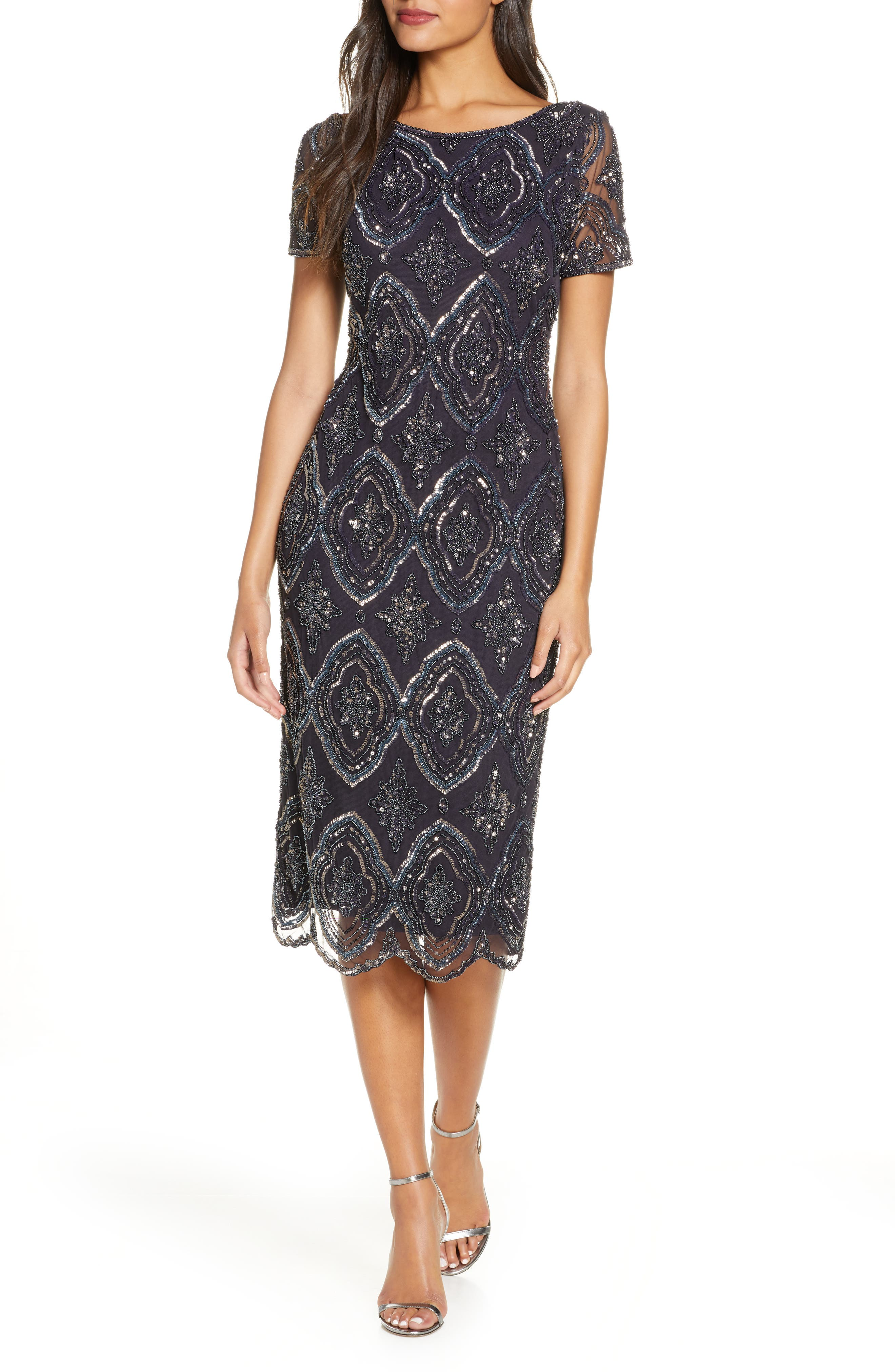 Vintage 1920s Dresses – Where to Buy Womens Pisarro Nights Stain Glass Beaded Cocktail Dress $218.00 AT vintagedancer.com