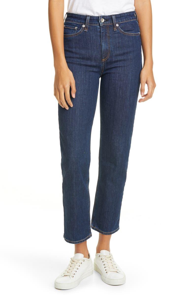 RAG & BONE Nina High Waist Ankle Cigarette Jeans, Main, color, 420