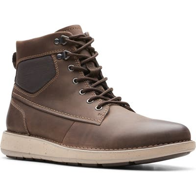 Clarks Un. larvik Plain Toe Boot, Brown