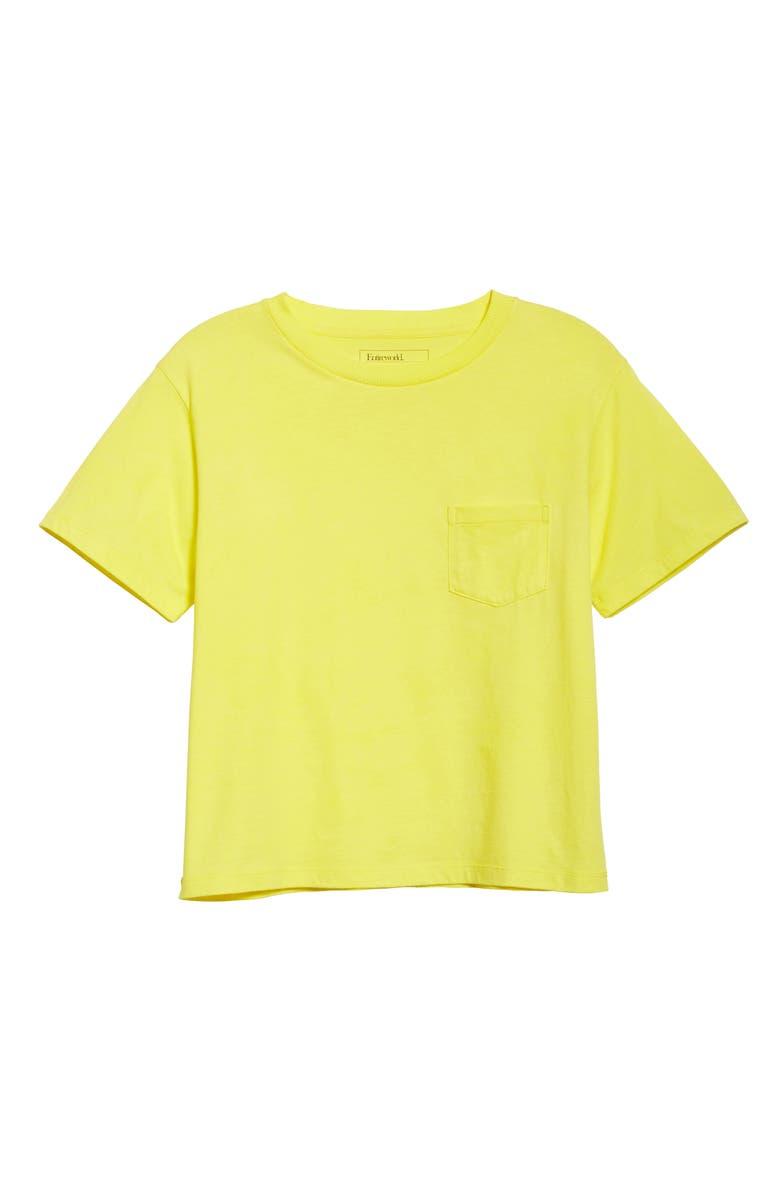 ENTIREWORLD Organic Cotton Jersey Pocket Boy Tee, Main, color, LEMON
