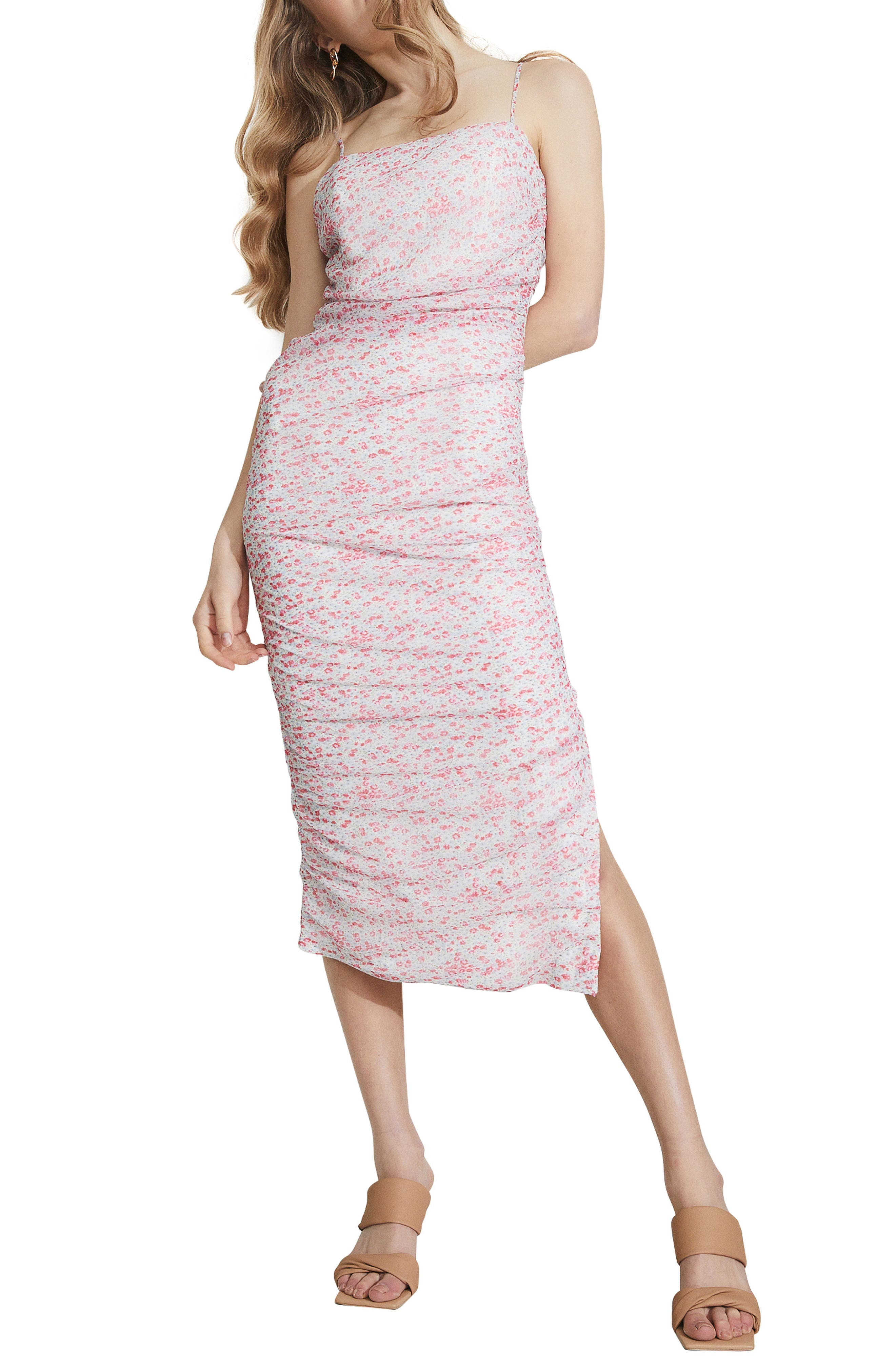 Ditsy Ruched Dress