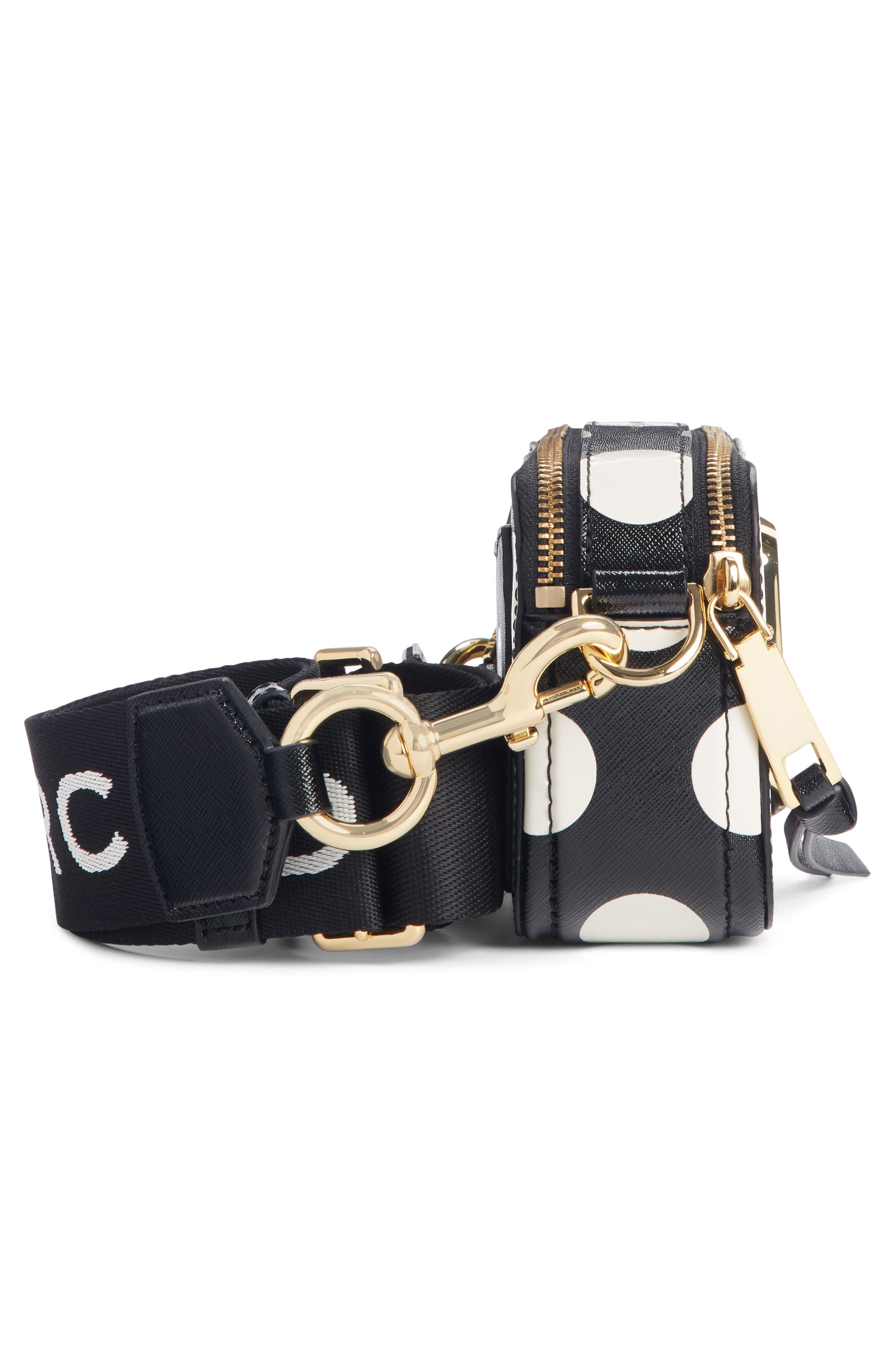 ,                             Dot Snapshot Leather Crossbody Bag,                             Alternate thumbnail 5, color,                             BLACK MULTI