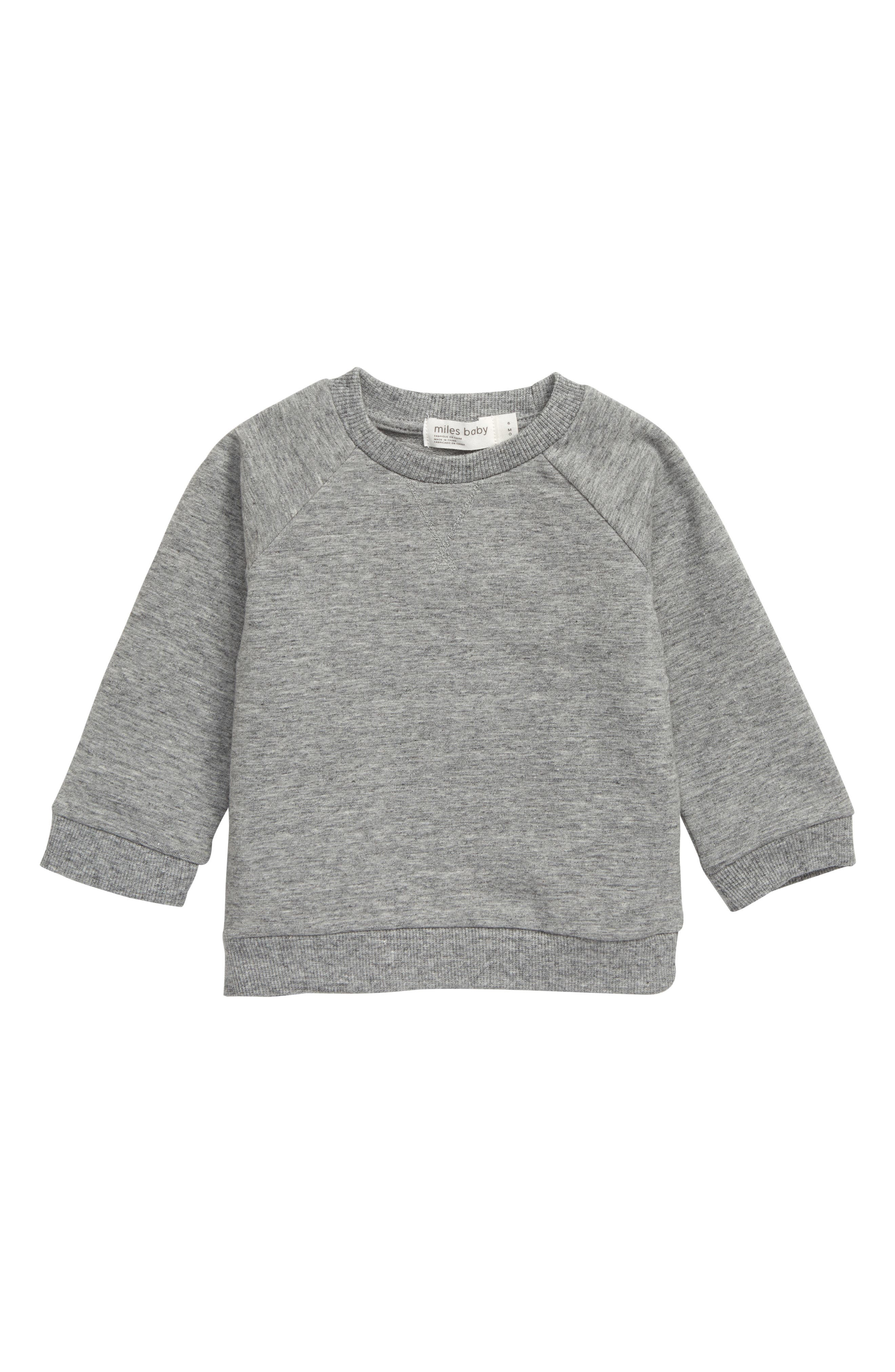 Refresh baby\\\'s everyday cool-weather style with this cute and comfortable stretch-organic-cotton pullover. Style Name: Miles Baby Stretch Organic Cotton Sweatshirt (Baby). Style Number: 5886351. Available in stores.