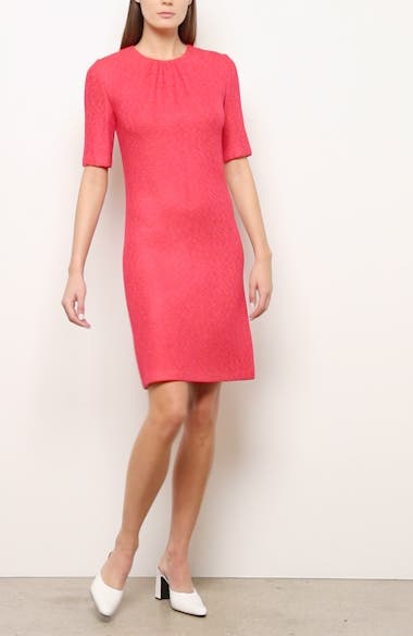 Elbow Sleeve Refined Knit Dress, video thumbnail