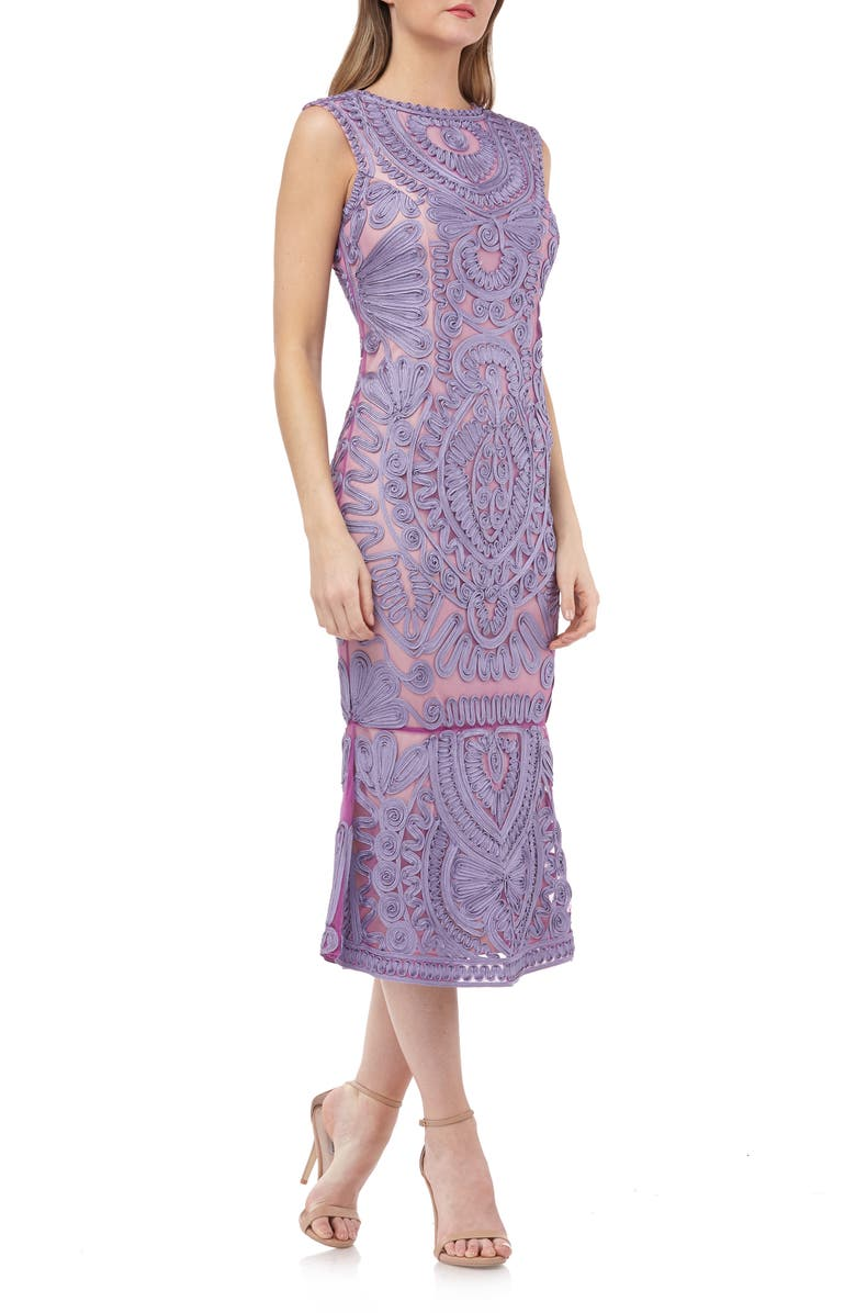 JS Collections Soutache Mesh Dress Regular Petite