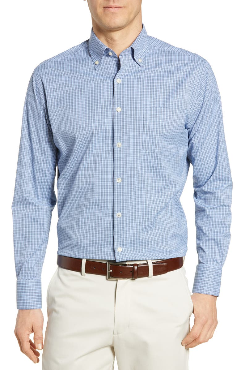 Peter Millar Regular Fit Plaid Performance Button Down Shirt