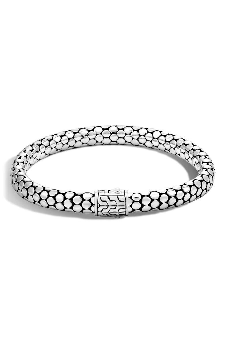 JOHN HARDY Dot Chain Bracelet, Main, color, SILVER