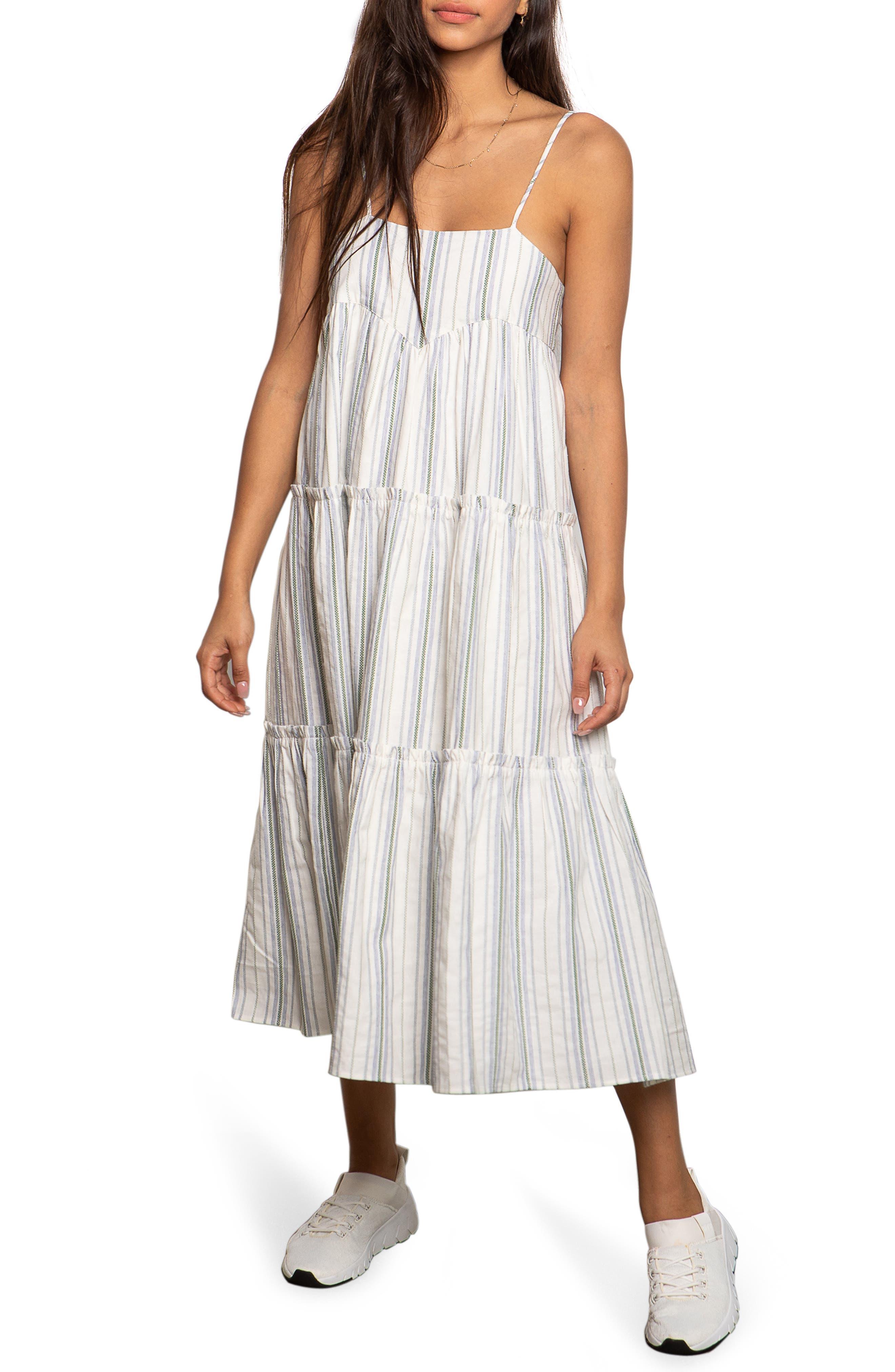 Noelle Tiered Midi Dress