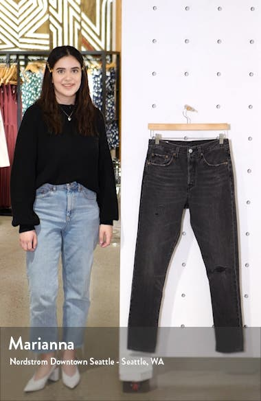 501<sup>®</sup> Ripped High Waist Skinny Jeans, sales video thumbnail