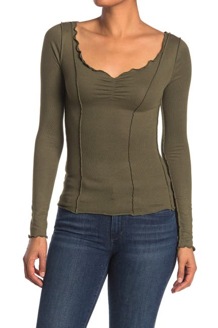 Image of Abound Long Sleeve Cozy Cinch Front Top