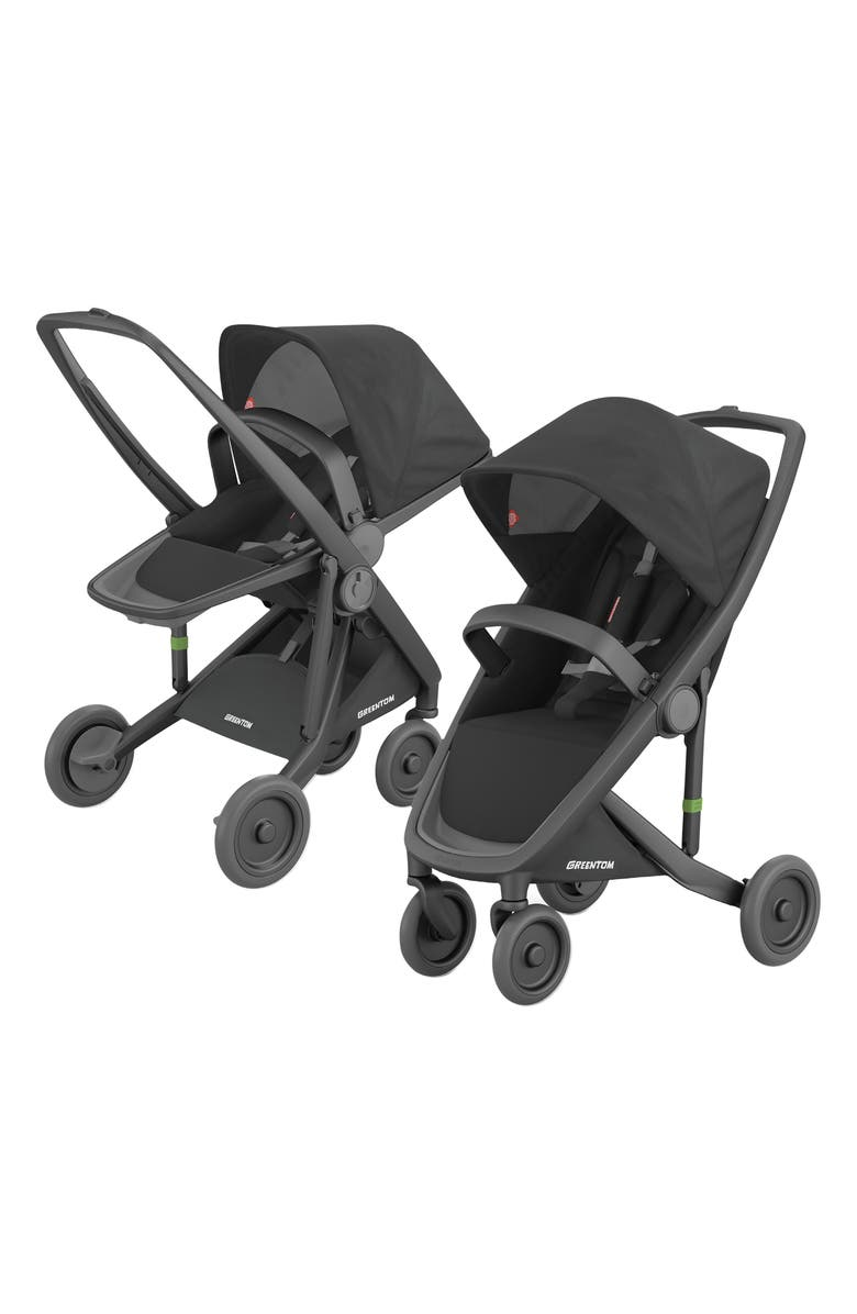 GREENTOM 2-in-1 Stroller with Reversible & Classic Seat Options, Main, color, BLACK/ BLACK FRAME