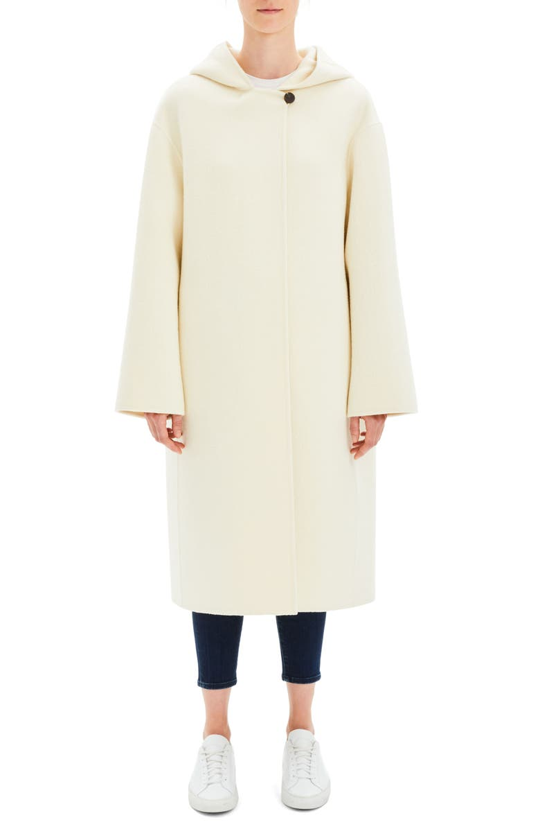 6d18801e0b Theory Clean Duffel Wool Blend Coat | Nordstrom