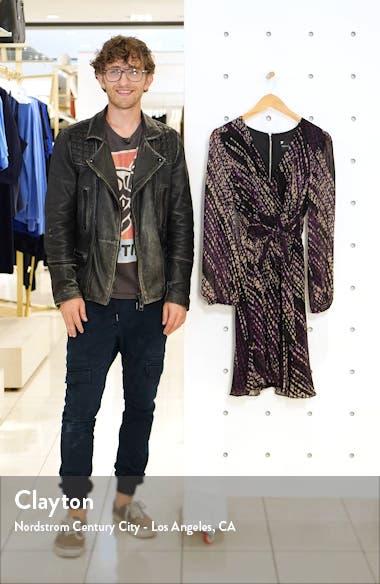 Long Sleeve Faux Wrap Dress, sales video thumbnail